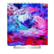 Tropical Coral Reef Shower Curtain