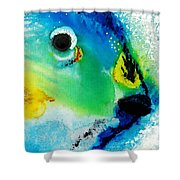 Tropical Fish 2 - Abstract Art By Sharon Cummings Shower Curtain