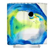 Tropical Fish 3 - Abstract Art By Sharon Cummings Shower Curtain