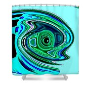 Tropical Fish Abstract Shower Curtain