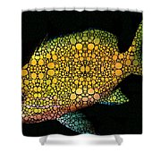 Tropical Fish Art 14 By Sharon Cummings Shower Curtain