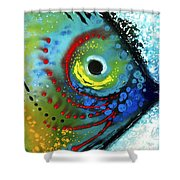 Tropical Fish - Art By Sharon Cummings Shower Curtain