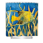 Tropical Fish Art Print Shower Curtain