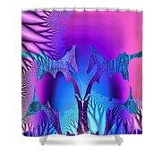 Tropical Fractal Shower Curtain
