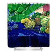 Tropical Fruit Shower Curtain