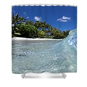 Tropical Glass Shower Curtain