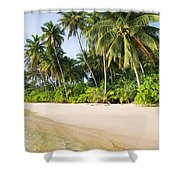 Tropical Island Beach Scenery Shower Curtain