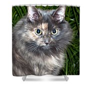 Tropical Kitty Shower Curtain