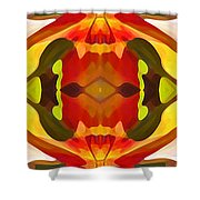 Tropical Leaf Pattern 17 Shower Curtain