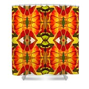Tropical Leaf Pattern 2 Shower Curtain