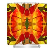 Tropical Leaf Pattern5 Shower Curtain