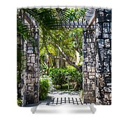 Tropical Light Shower Curtain