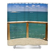 Tropical Lookout Shower Curtain