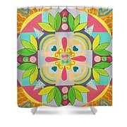 Tropical Mandala Shower Curtain