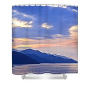 Tropical Mexican Coast At Sunset Shower Curtain by Elena Elisseeva