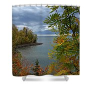 Tropical Mountain Ash Shower Curtain