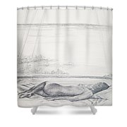 Tropical Nude Shower Curtain