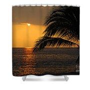 Tropical Ocean Sunset Shower Curtain