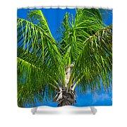 Tropical Palm Portrait Shower Curtain