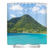 Tropical Panorama In The Caribbean Shower Curtain