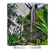 Tropical Paradise Falling Waters Buffalo Botanical Gardens Series   Shower Curtain