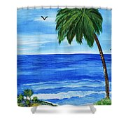 Tropical Path Shower Curtain