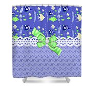 Whimsical Purple Tropical Fish  Shower Curtain