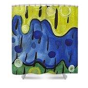Tropical Rain Shower Curtain