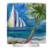 Tropical Sails Shower Curtain