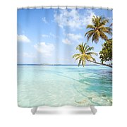 Tropical Sea In The Maldives - Indian Ocean Shower Curtain