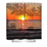 Tropical Spirits - Palm Tree Art By Sharon Cummings Shower Curtain