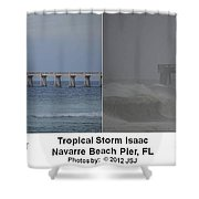 Tropical Storm Isaac Difference In A Day Shower Curtain