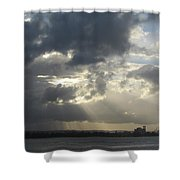 Tropical Stormy Sky Shower Curtain