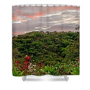 Tropical Sunset Landscape Shower Curtain