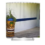 Tropical Tiki Welsome Shower Curtain