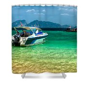 Tropical Travel Shower Curtain
