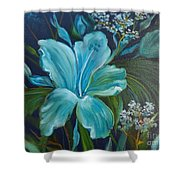 Tropical Turquoise Shower Curtain