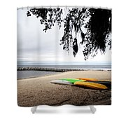 Tropical Watercraft Shower Curtain