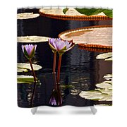 Tropical Waters Floral Charm Shower Curtain