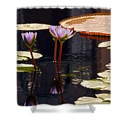 Tropical Waters Floral Charm -- Version 2 Shower Curtain
