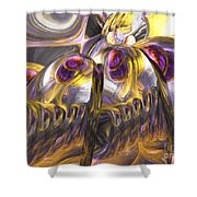 Tropical Wind Painted Abstract Shower Curtain