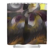Tropical Wind Pastel Abstract Shower Curtain