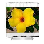 Tropical Yellow Blossom Shower Curtain