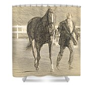 Trot Out Drawn Shower Curtain