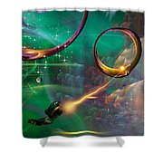 Trouble Maker Shower Curtain