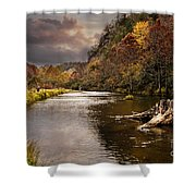 Trout Fishing Shower Curtain by Tamyra Ayles
