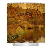 Trout Stream Textured Shower Curtain