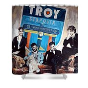 Troy Stopover Shower Curtain