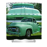 Truck In Grill Shower Curtain