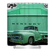Truck In Tailgate-hdr Shower Curtain